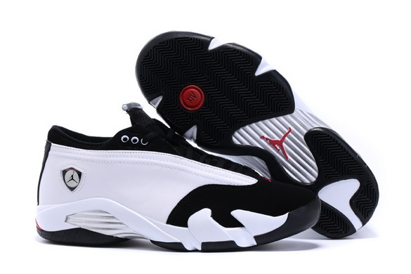 Men's Air Jordan 14 Shoes White/black red