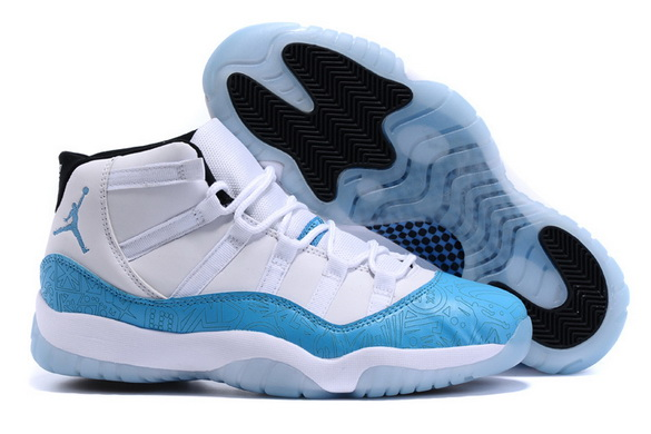 Air Jordan XI 11 Retro Shoes Caroline blue/white