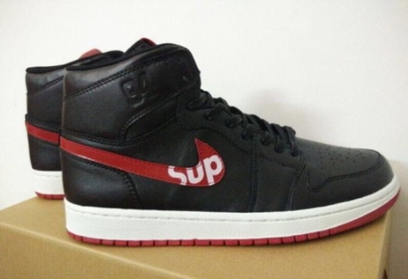 Air Jordan 1 Retro Shoes Black/red white - Click Image to Close