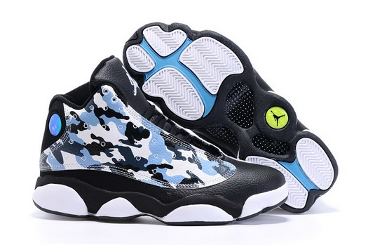 Men's Air Jordan 13 Shoes Black/blue white