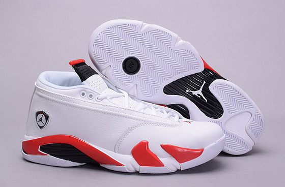 "Men""s Air Jordan 14 ""Candy Cane"" Shoes White/red"