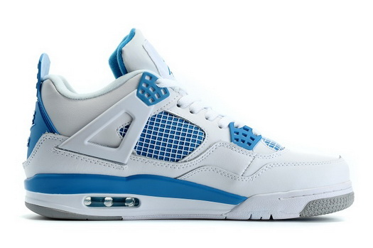 "Air Jordan 4 ""2016 Spring"" Shoes Blue/white"