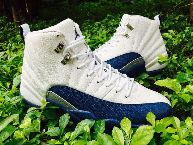"Air Jordan 12 ""French Blue"" Shoes White/blue"