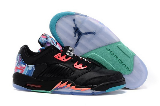 "Air Jordan 5 ""Chinese Kites"" Shoes Black/blue pink"