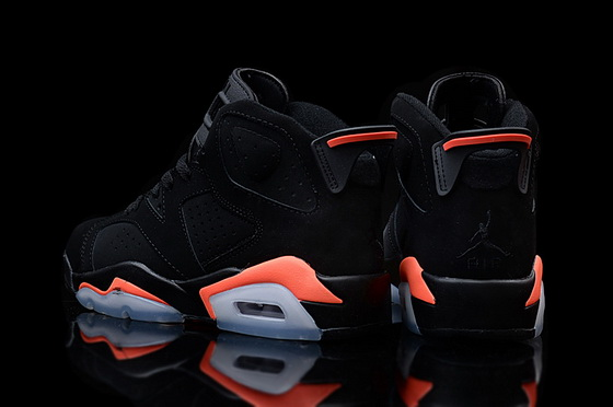"Air Jordan 6 ""Infrared 2014"" Shoes Black/red"