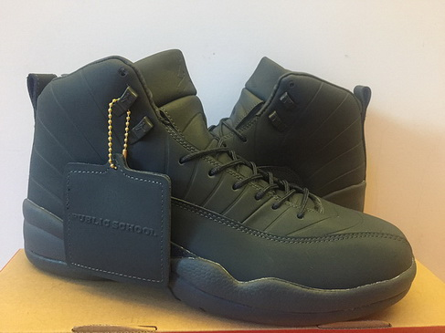 "Air Jordan 12 ""PSNY"" Shoes Dark gray"
