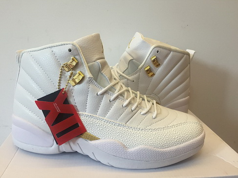 "Air Jordan 12 ""OVO"" Shoes White/gold"