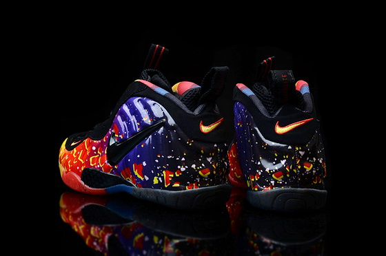 Air Foamposite One Shoes Blue/black orange