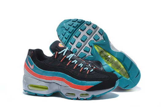 "Air Max 95 Retro ""20th Anniversary"" Shoes Black/blue red silver"