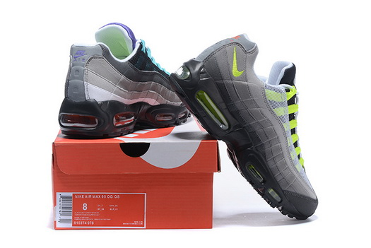 "Air Max 95 Retro ""20th Anniversary"" Shoes Gray/green black"