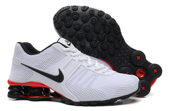 Men's Shox Shoes White/black red
