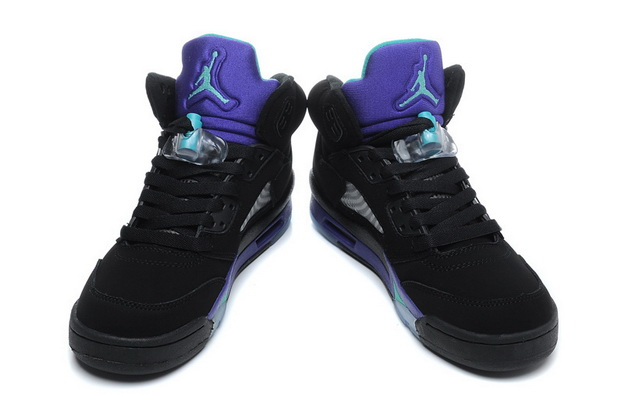 "Air Jordan 5 Big Size ""14 15 16"" Shoes Black/Purple grapes blue"