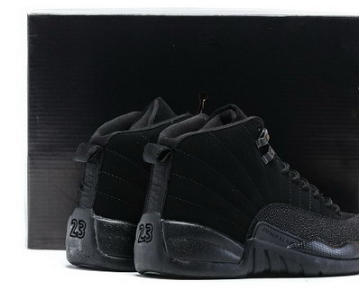 "Air Jordan 12 ""Black OVO"" Shoes All black"