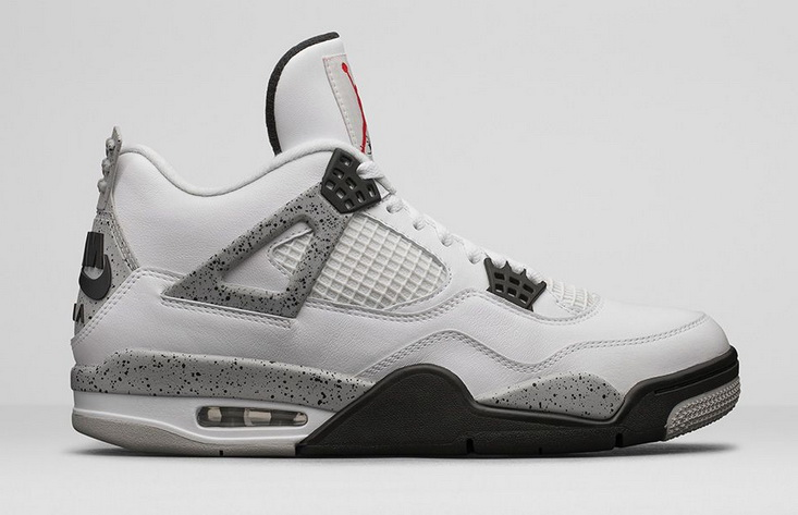 "Air Jordan 4 ""AIR logo on the heel"" Shoes White/Fire Red Tech Grey Black"