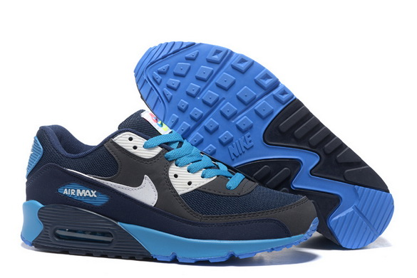 Men's Air Max 90 Shoes Blue/white black