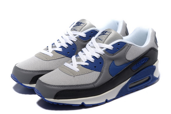 Men's Air Max 90 Shoes Blue/gray black