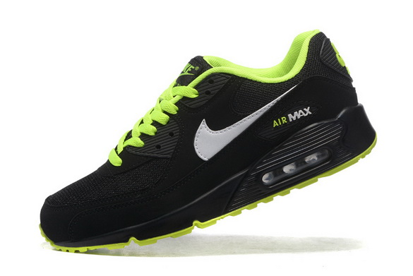 Men's Cheap Air Max 90 Shoes Black/green white