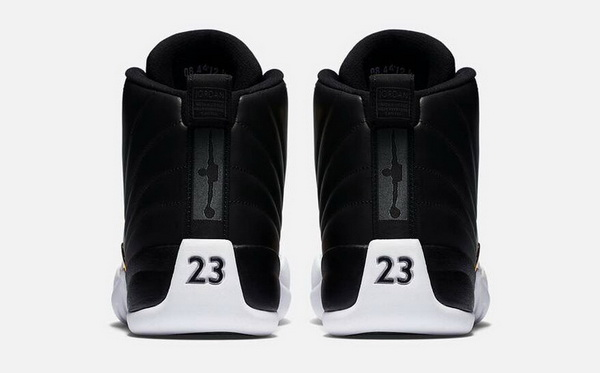"Air Jordan 12 ""Wings"" Shoes Black/white gold"
