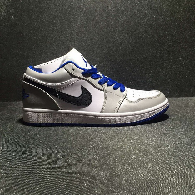 Air Jordan 1 Low Shoes Gray/White Blue