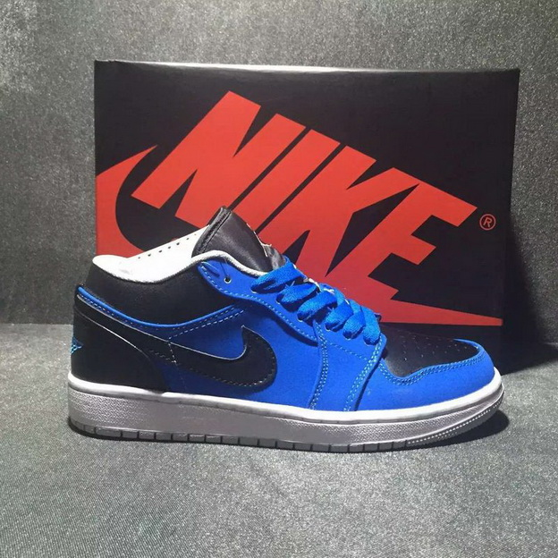 Air Jordan 1 Low Shoes Blue/Black - Click Image to Close