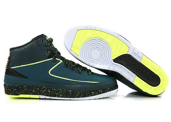 "Air Jordan 2 ""nightshade"" Shoes Green/Yellow Black"
