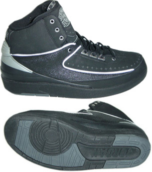 Air Jordan 2 Retro Shoes Black All