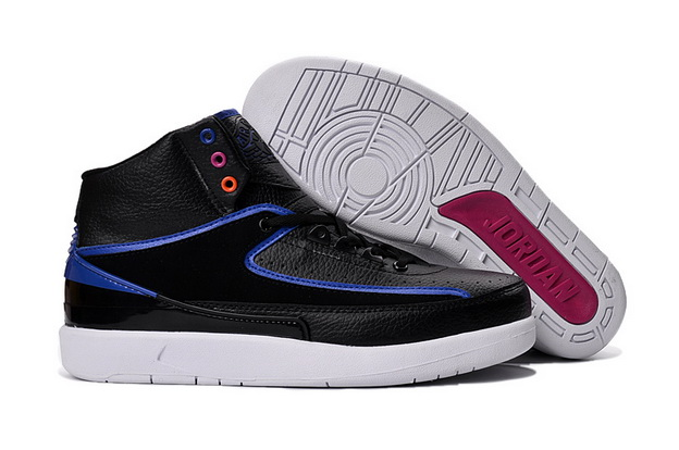 "Air Jordan 2 ""radio raheem"" Shoes Black/Blue White"