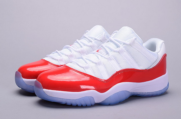 "Air Jordan 11 ""Varsity Red"" Low Shoes White/Red"