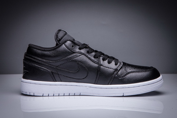 Mens Jordan 1 Low Shoes Black/White