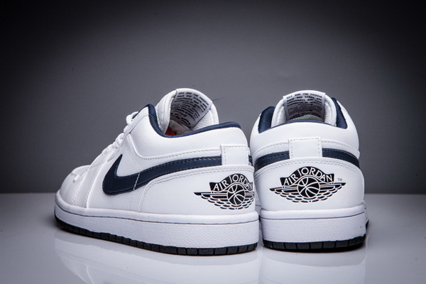 "Air Jordan 1 Low ""MIDNIGHT NAVY"" Shoes White/Blue"