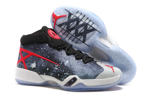 Air Jordan 30 JBC PEs Go Galactic Shoes Galaxy grey/Red Black White - Click Image to Close