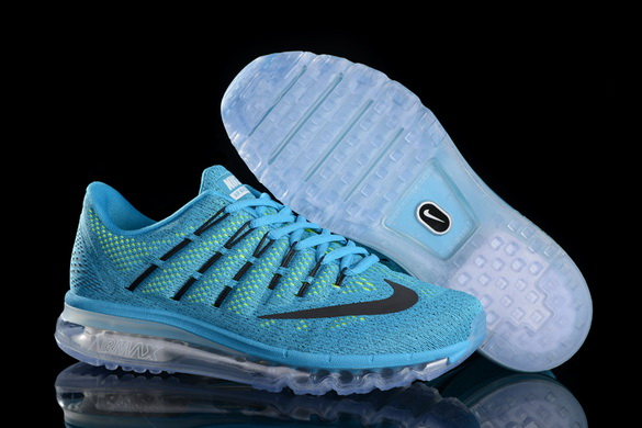 Men's Air Max 2016 Shoes Blue/Black