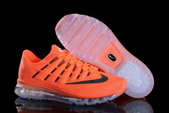 Men's Air Max 2016 Shoes Orange/Black