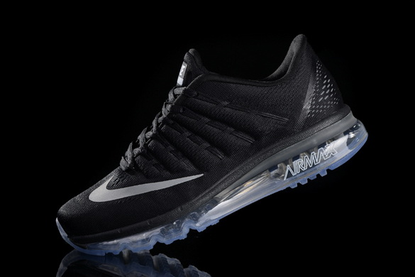 Men's Air Max 2016 Shoes Black/grey