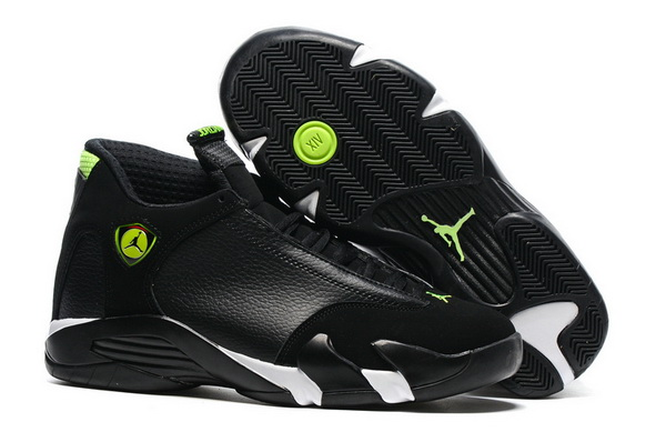 "Air Jordan 14 ""Indiglo"" Shoes Black/White Green"