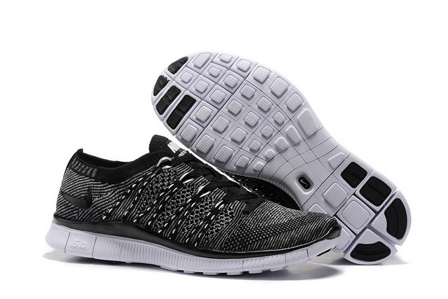 Men's Free Flyknit NSW 5 Shoes Black/White