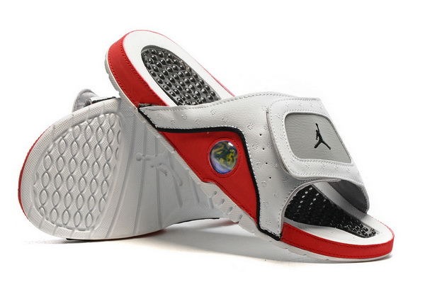 Jordan 13 slipper Shoes White/Red Grey
