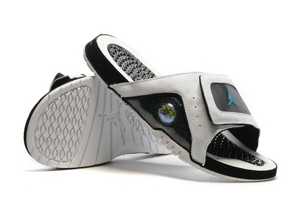 Jordan 13 slipper Shoes White/Black Blue