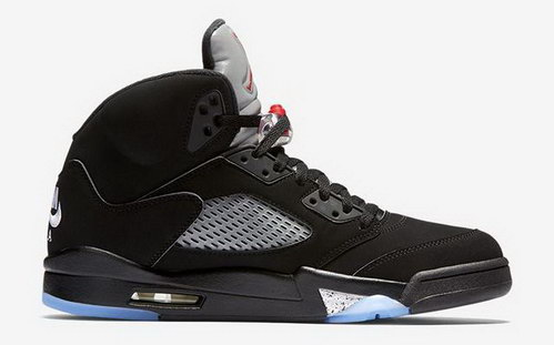 "Air Jordan 5 Retro ""2016 release"" Shoes Black/Red metallic silver - Click Image to Close"