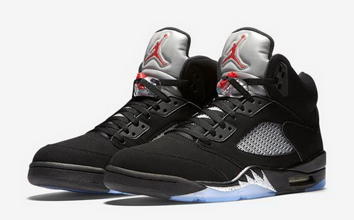 "Air Jordan 5 Retro ""2016 release"" Shoes Black/Red metallic silver"
