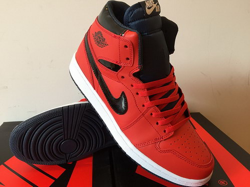 Air Jordan 1 Retro Shoes Red/Black White
