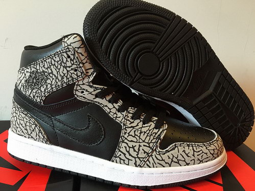 "Air Jordan 1 Retro ""Elephant Print"" Shoes Black/Cement white"