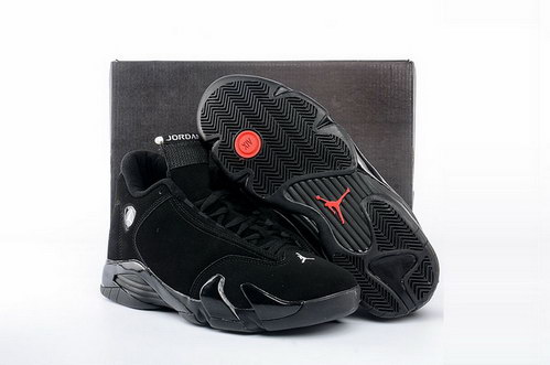 "Air Jordan 14 ""Black Cat"" Shoes Black/Red"