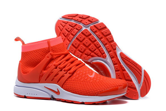 Air Presto Ultra Flyknit Shoes Red/white