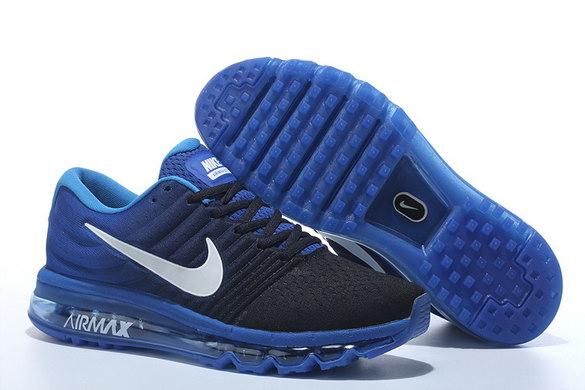 Air Max 2017 Running Shoes True Blue/Black white