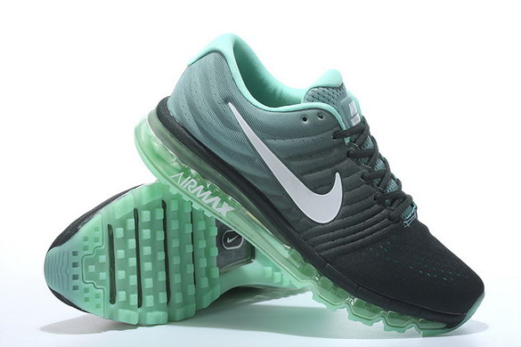 Air Max 2017 Running Shoes Dark Grey/White green
