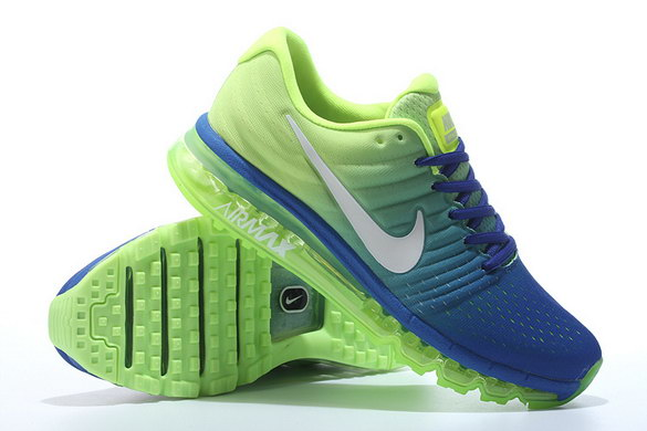 Air Max 2017 Running Shoes Green/Blue