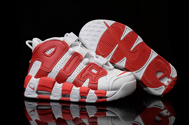 Air More Uptempo Shoes Red/white - Click Image to Close
