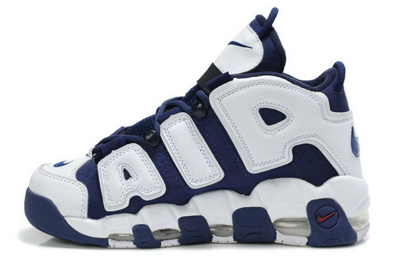 Air More Uptempo Shoes White/blue red