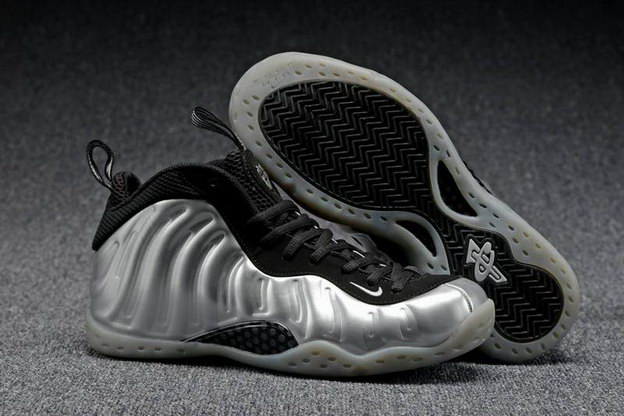 Air Foamposite One Shoes Silver/black white
